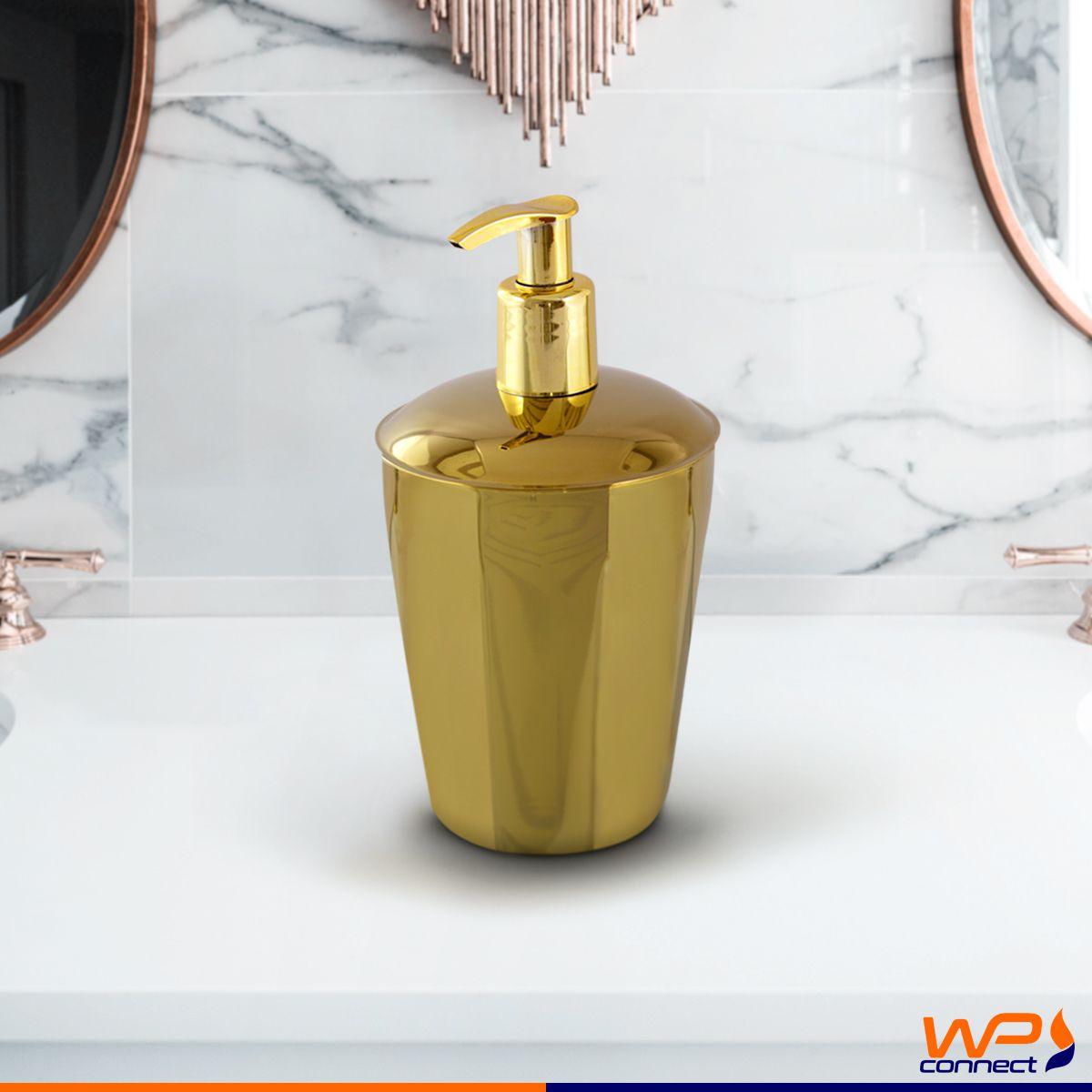 Suporte Sabonete Liquido Spa Golden Aço Inox Dourado