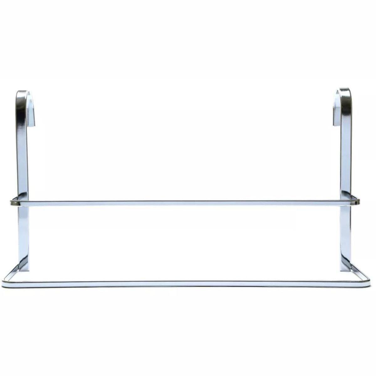 Suporte Toalheiro de Box Duplo 45cm Conjunto 4 Peças Banheiro