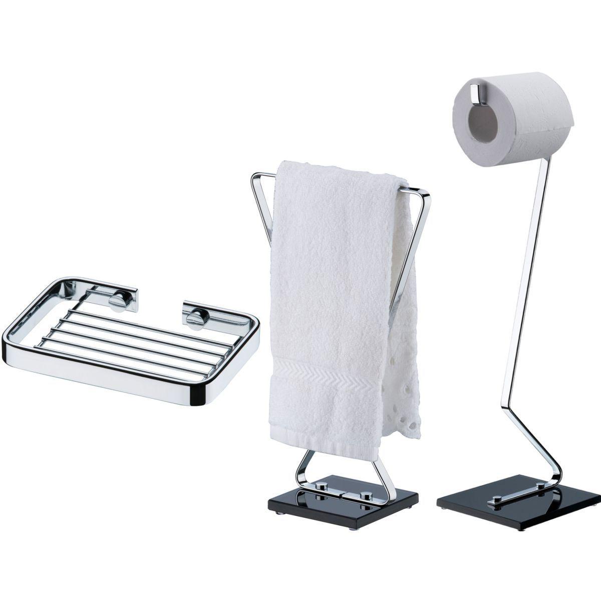 Suportes Banheiro Papeleira de Chão Toalheiro Bancada Saboneteira