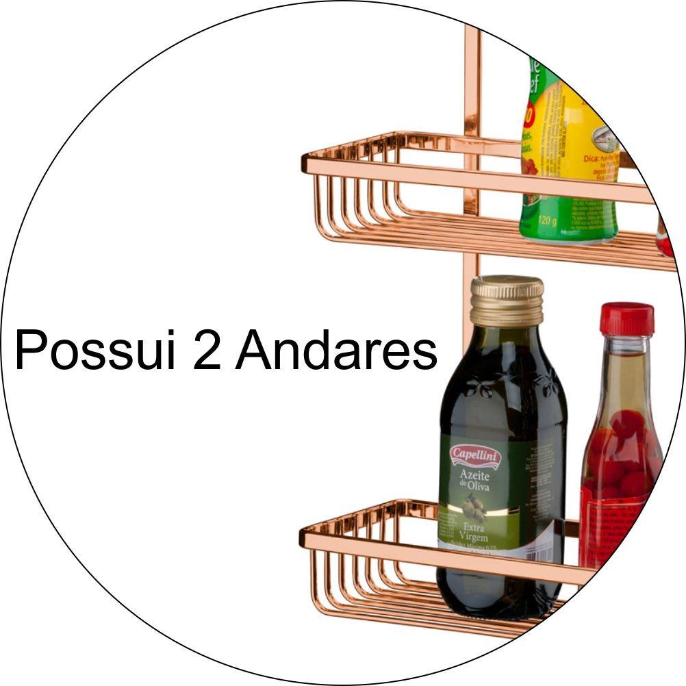Suportes Organizadores de Cozinha - Kit 3 Peças P/ Barra
