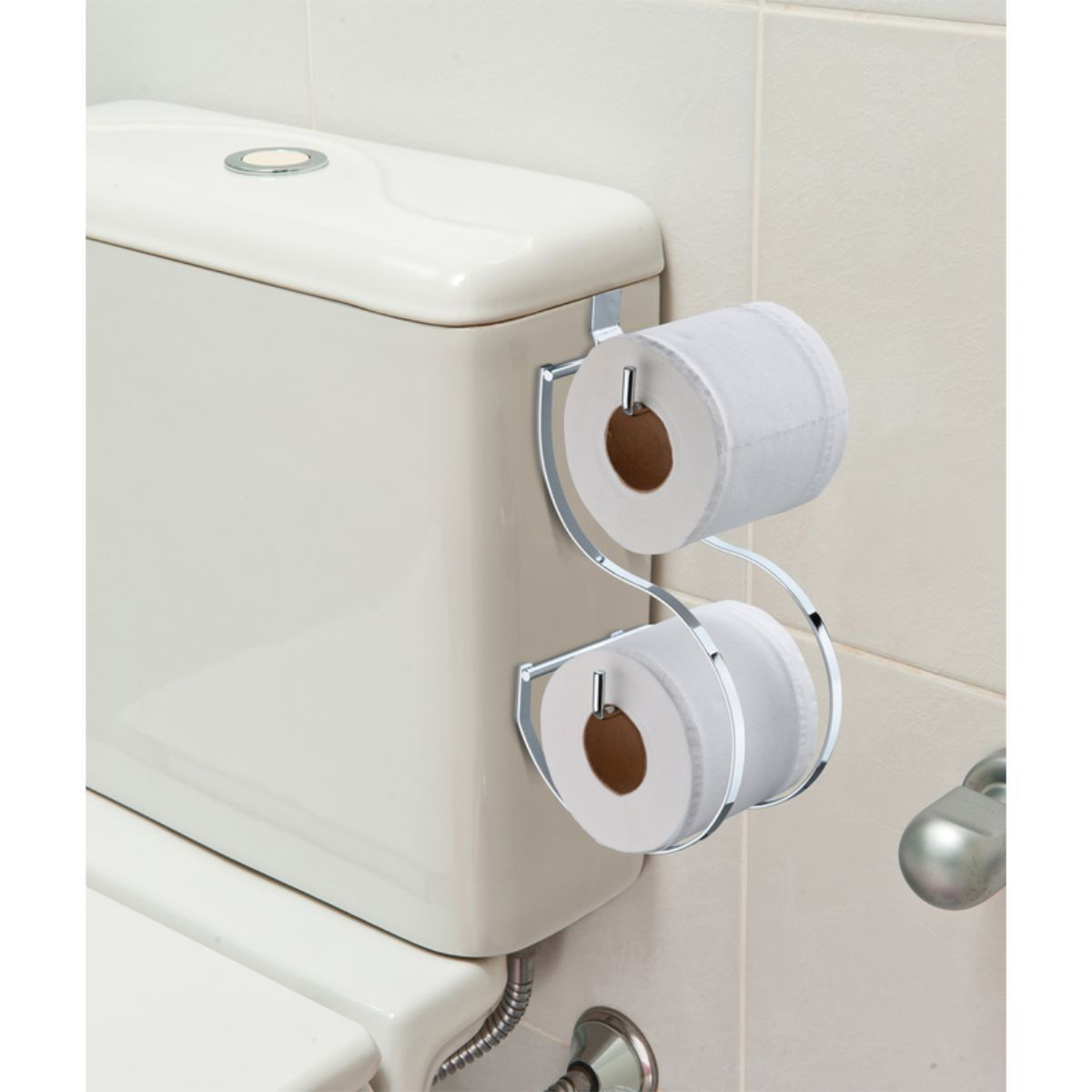 Toalheiro 45cm de Box Duplo Porta Papel Higiênico Caixa Acoplada