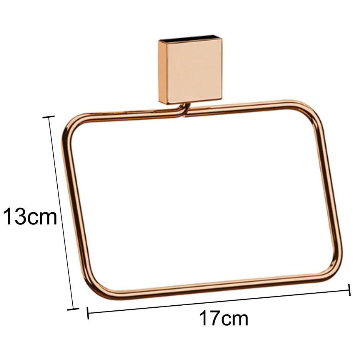 Toalheiro Argola 18cm Mão ou Rosto - Rosé Gold