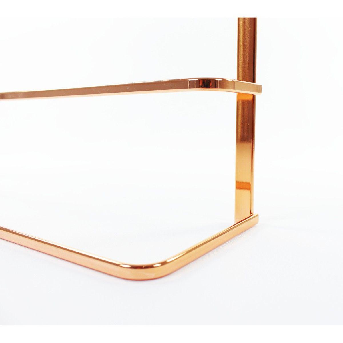 Toalheiro de Box 45cm Banheiro Cobre Rosé Gold
