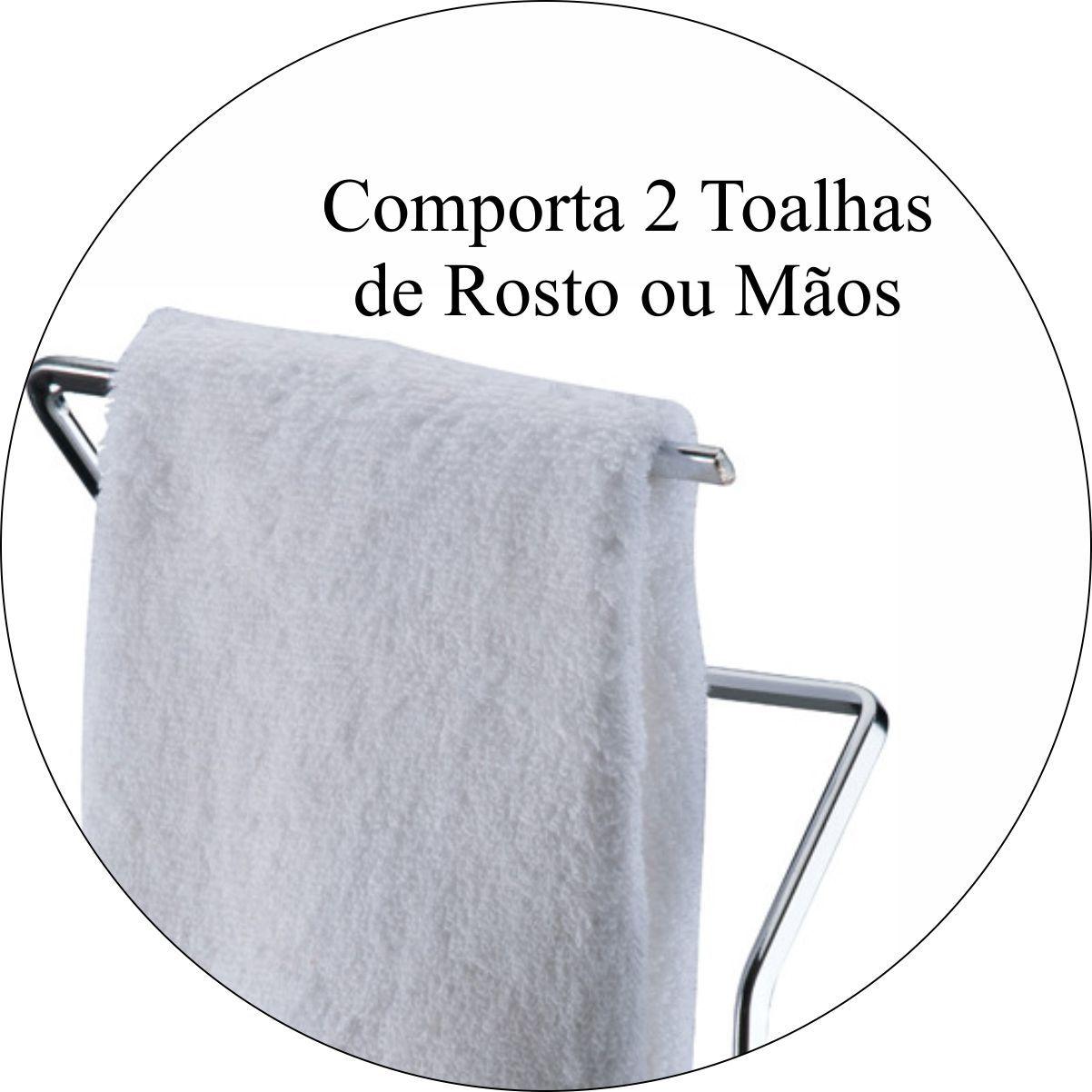 Toalheiro Porta Toalha De Rosto Para Bancada -  Aço Cromado