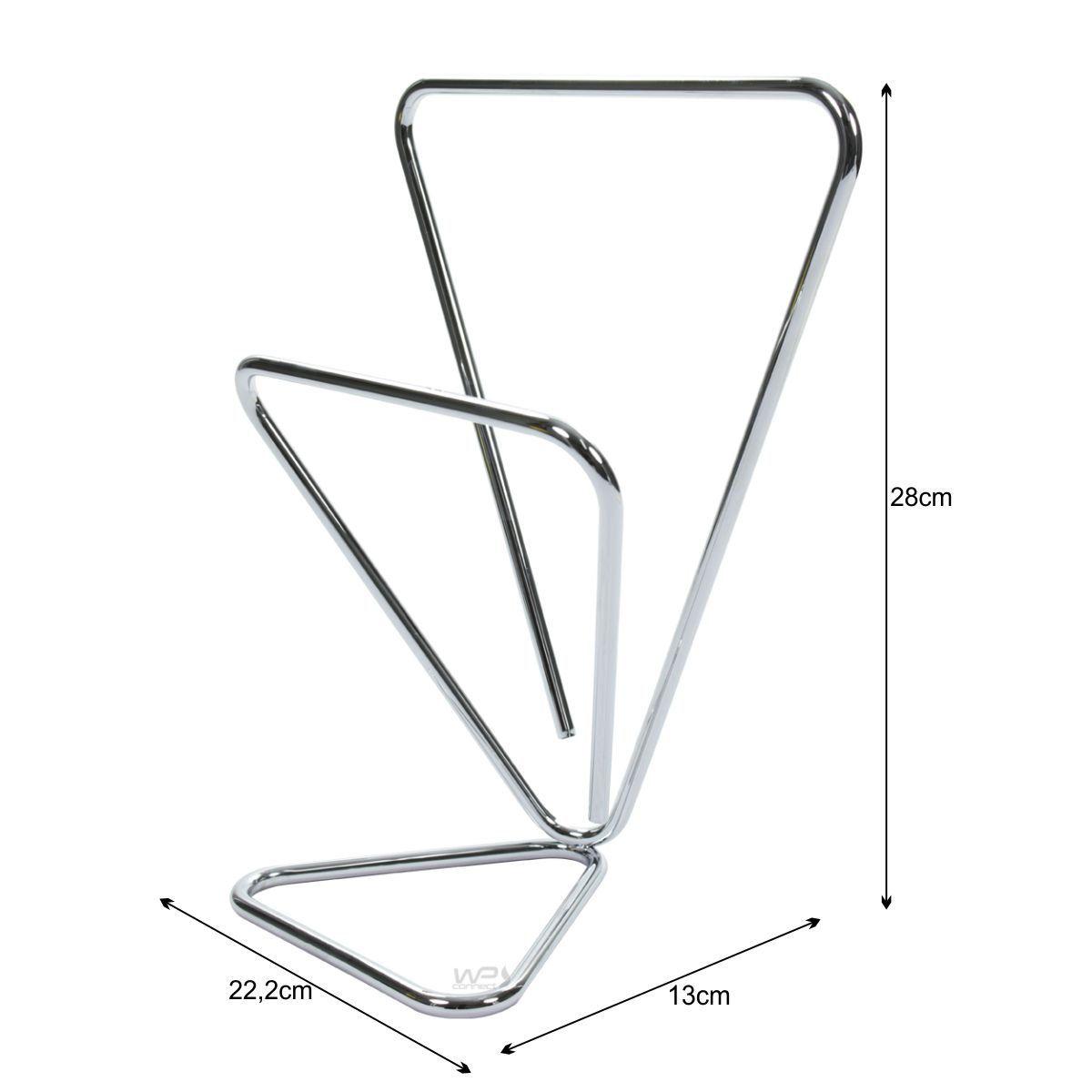 Toalheiro Triangular Duplo Porta Toalhas de Bancada - Cromado