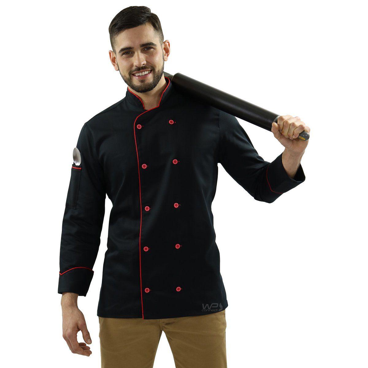 Uniforme Para Chef de Cozinha com Bandana Avental + Sapato Antiderrapante