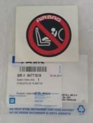 Etiqueta localizacao cadeira bebe - Onix 2013 a 2020