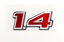 Emblema 1.4 da tampa traseira - Celta 2004/2004