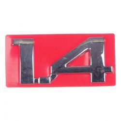 Emblema *1.4* Tampa traseira - Prisma de 2007 a 2013