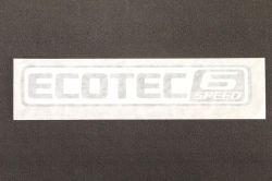 Emblema *ecotec 6 Speed* tampa traseira motor 2.5 - S10 nova 1996 a 2017