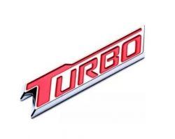 Emblema turbo da tampa traseira - Cruze 1.4 2017 a 2021