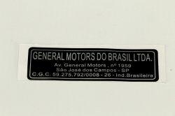 EtiqUeta general motors sao jose campos - Corsa de 1994 a 2012