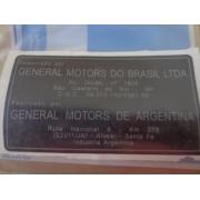 Etiqueta identificacao * general motors brasil * - Tracker 2006 a 2009