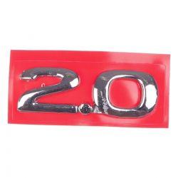 Emblema *2.0* Da tampa traseira porta malas- Astra/Zafira 1999 a 2009/ Vectra 1997 a 2004/