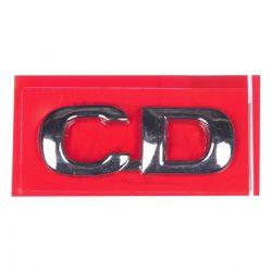 Emblema *cd* da tampa traseira porta malas- Astra/Zafira 2000 a 2004/ Vectra 1997 a 2005/
