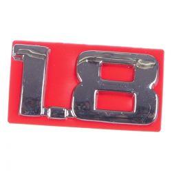 Emblema *1.8* Da tampa traseira porta malas 1.8 - Corsa novo 2008 a 2009