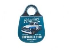 Lixeira de Carro Neoprene Chevrolet - Pick up 3100 Azul 20x29 cm