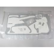 Plastico de vedacao porta do motorista - Celta 2 portas 2001 a 2014