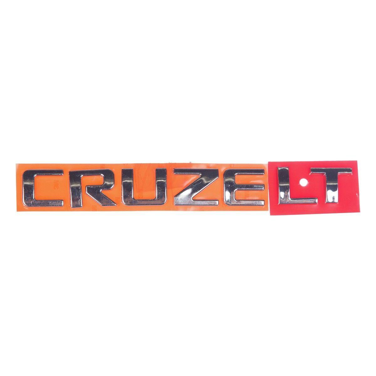 Emblema *Cruzee lt* tampa traseira - Cruze 2012 a 2016
