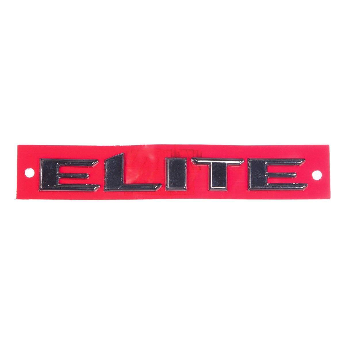 Emblema *elite* porta dianteira - Vectra novo 2006 a 2011