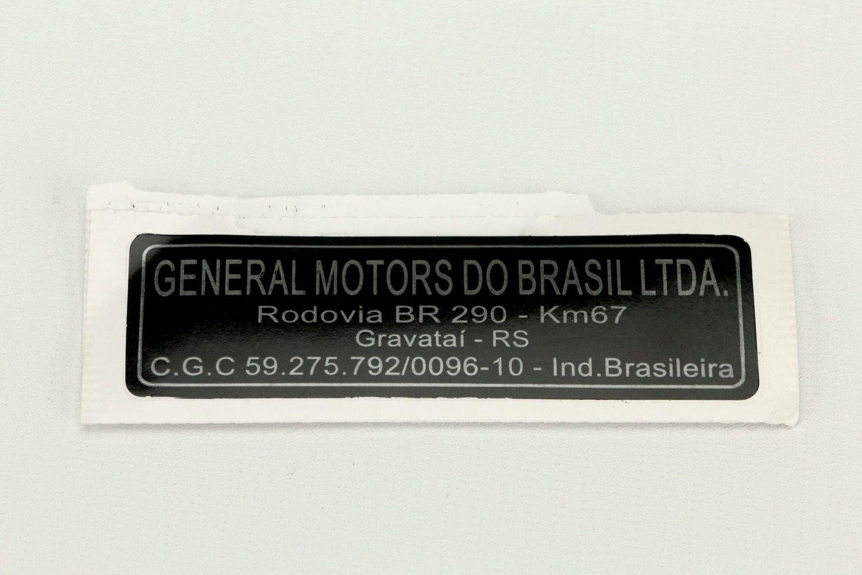 Etiqueta general motor do brasil ltda - gravatai rs - Celta 2001 a 2005