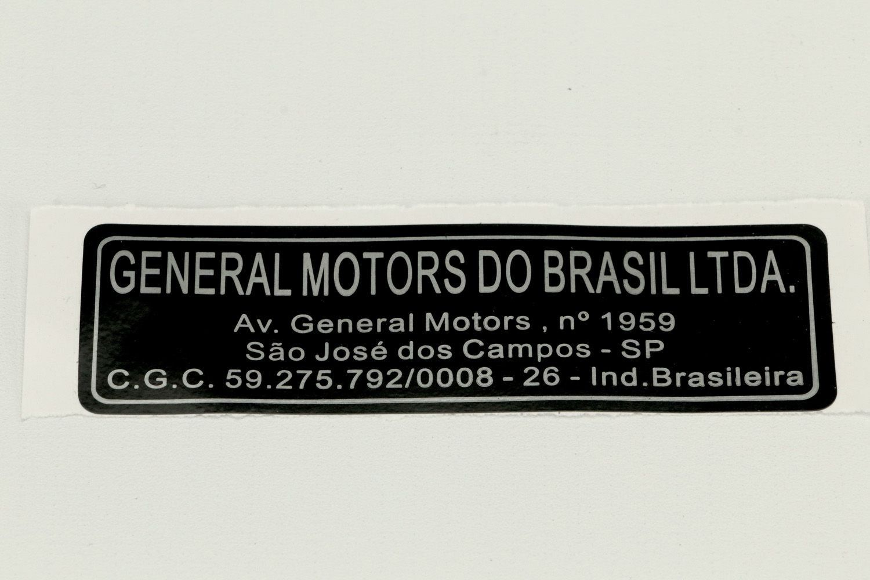 EtiqUeta general motors sao jose campos - Astra de 1995 a 2011