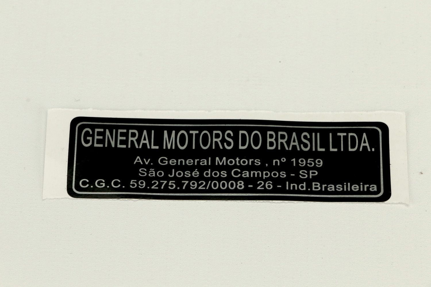 EtiqUeta general motors sao jose campos - Vectra de 1994 a 2011
