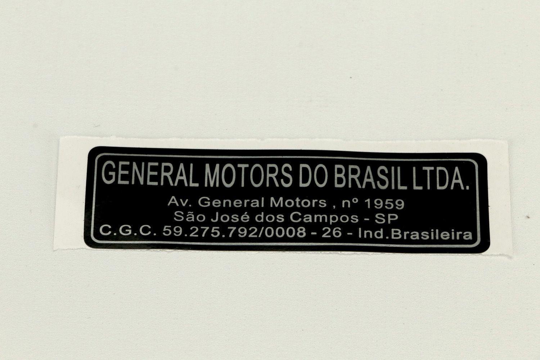 EtiqUeta general motors sao jose campos - Zafira de 2001 a 2012