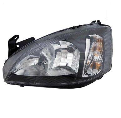 Farol dianteiro lado motorista mascara negra - Corsa novo 2008 a 2012