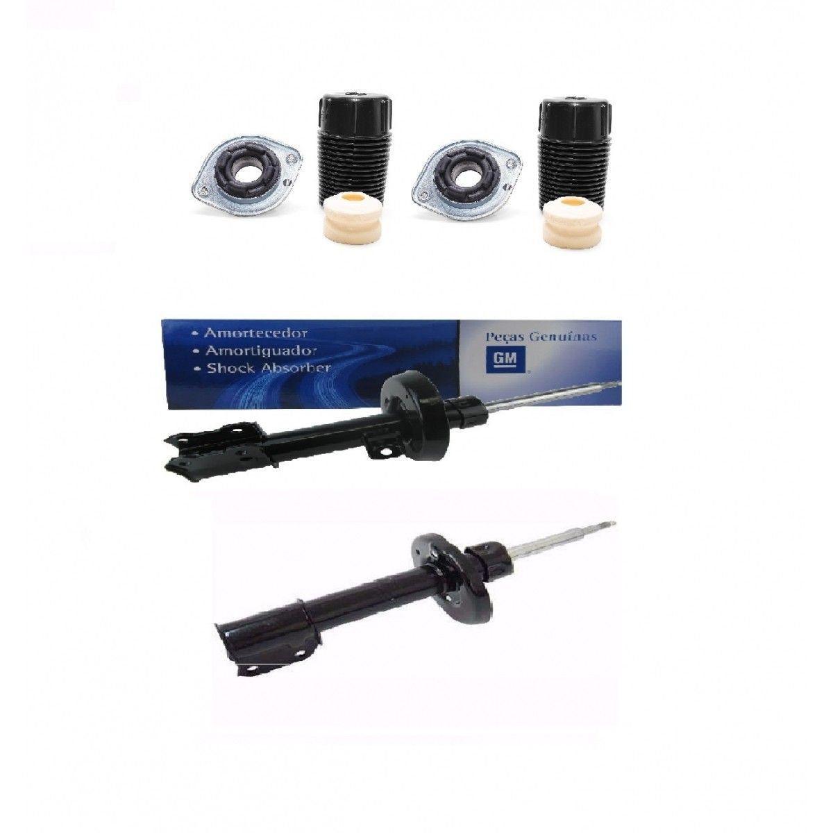 Kit amortecedor dianteiro + kit batente (par) - Prisma 2007 a 2012