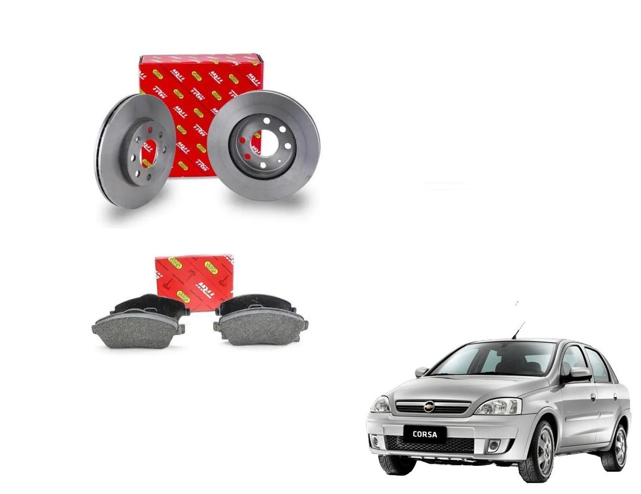 Kit freio dianteiro- Dianteiro - Corsa novo 1.0/1.4 de 2002 a 2012