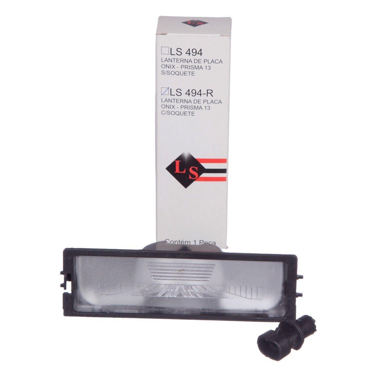 Lanterna placa traseira - Prisma novo de 2013 a 2020