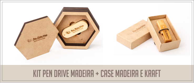 combos pendrive mais case