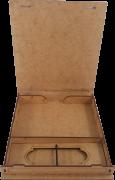 Case Madeira Memory Box Wedding 9x13 Personalizado para Pen Drive
