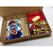 Case Madeira Personalizado para Foto e Brinde 10x15