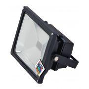 Refletor LED 50W RGB  Luz Colorida 16 Cores - Uso Externo