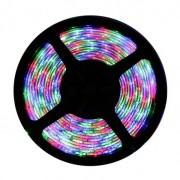 Fita LED 3528 12V IP20 Sem Silicone Rolo Com 5m Luz Colorida RGB