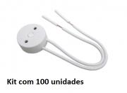 Kit 100 pç Soquete Cebolinha com Rabicho Para Tubular T8
