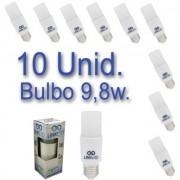Kit 10 Lâmpadas LED Bulbo 9,8W T40 Bivolt Certificação Inmetro