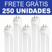 Kit 250 Unidades - Tubular LED T8 120cm 18W Luz Neutra - Frete Grátis