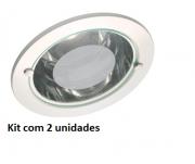 Kit 2 Luminárias de Embutir Redonda 5