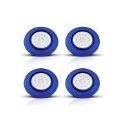 Kit 4 Luminárias Azuis de LED para Piscina 18W