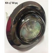 Kit 50 unidades Spot Olho de Boi p/ Mini dicroica c/ Lâmpada 127V