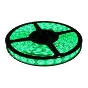 Kit Fita de LED 3528 12V 5m Luz Verde com Fonte de Alimentação 24W 12V 2A