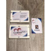 Kit Pen Card 16GB Plástico Retangular + Case Plástico Personalizados