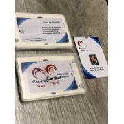 Kit Pen Card 8GB Plástico Retangular + Case Plástico Personalizados