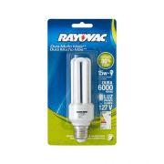 Lâmpada Fluorescente Compacta CFL 15 Watts Flat 220V - Rayovac