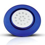 Luminária de Piscina LED Borda Azul Luz RGB 18W