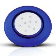 Luminária de Piscina LED Borda Azul Luz RGB 9W
