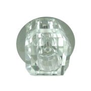 Lustre Spot Octógono Cristal Para Lâmpada G9 Embutir